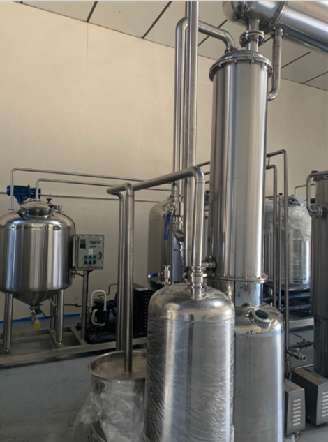 Stainless steel single-effect external circulation alcohol recovery evaporator