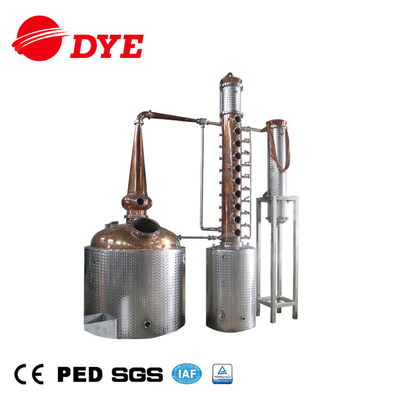 DYE-I 5000L Industrial Alcohol Distillery Equipment Commercial Copper Whisky Distiller for Sale