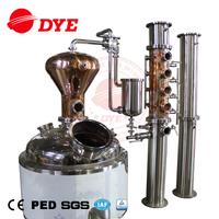 Multi-functional Whisky Brandy Rum Gin Vodka Copper Alcohol Distiller Equipment