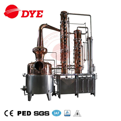 500L industrial steam alcohol distillation equipment wine and spirits alcohol