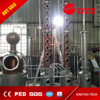 500L red copper alcohol wine ethand whisky brandy rum vodka gin tequial pot still distillery equipment
