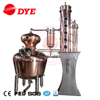 Craft Distillery Equipment Copper Still Fractional Distillation Column Hybrid Copper Still Ethanol Reflux Distiller
