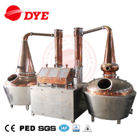 1000L Double Copper Pot Whiskey Alcohol Distillation Equipment