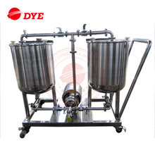 Stainless steel CIP cart beer brewing tanks