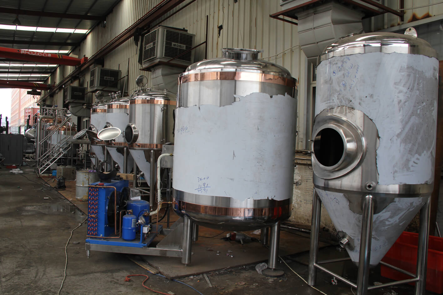 5bbl Copper SS Beer Brewing Equipment with Steam Heating
